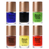 6Bottles Professional Nail Stamping Polish Set Nail Plate Printing Varnish Set