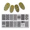 Geometric Theme Rectangle Nail Stamping Plate Irregular Pattern For Manicure BBBXL-016
