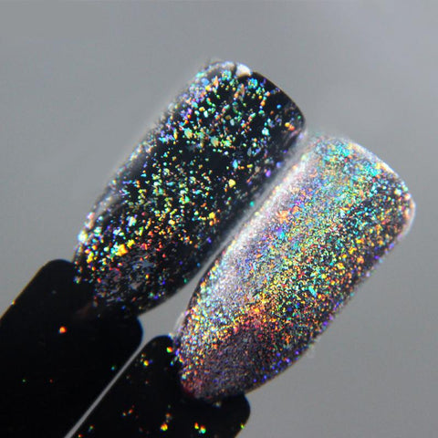 0.2g/Box Chrome Flakes Nail Powder Galaxy Holo Flakes Nail Art Glitter Decoration