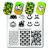 Halloween Pumpkin Nail Art Stamping Plate Skull Spider Design For Manicure