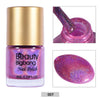 8ML Hot Pink Holographic Nail Polish Laser Glitter Hologram Effect Nail Varnish 007