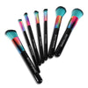 7Pcs Unicorn Rainbow Handle Eyebrow Blush Powder Makeup Brushes Kit