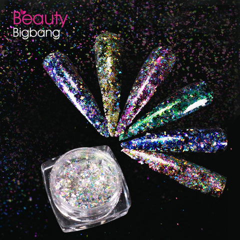 Aurora Irregular Flakies Powder Chameleon Nail Glitter Sequins For Manicure