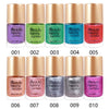 9ML Orange Metallic Lacquer Nail Polish Mirror Effect Nail Varnish 006