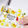 Sunflower Lemon Series Water Decals Transfer Nail Art Stickers BBB003