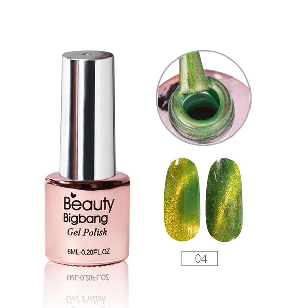 6ML Forest Green Magnetic Cat-Eye Gel Polish Chameleon UV Gel Polish Gel Varnish Lacquer Soak Off 04
