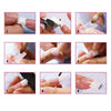 100/500Pcs Transparent Nail Art False Tips Nail Tools Set
