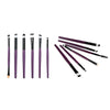 6Pcs Black Handle Lip Eyeshadow Foundation Makeup Brushes Set