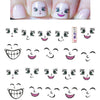 Cartoon Smiling Face Water Decals Transfer Nail Art Stickers
