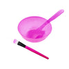 3Pcs Homemade Facial Face Mask Bowl Brush Spoon Stick Makeup Tools