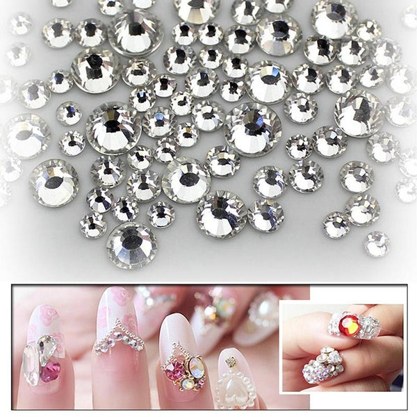 3D Flat Back Crystal Rhinestones Gems Nail Decoration