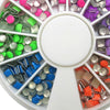 Glow In Dark Mix Color Plating Sharp Square Round Alloy Nail Decoration