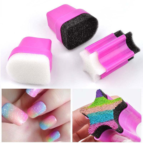 Gradient Color Sponge Head Printing Nail Stamper Manicure Stamping Nail Tools