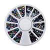 12Pcs AB Nail Rhinestones Acrylic Drill Jewelry Nail Decoration In Wheel