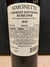 Load image into Gallery viewer, Simonetti Cabernet Sauvignon