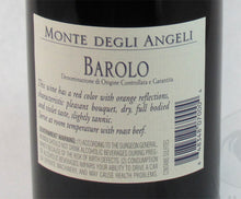 Load image into Gallery viewer, Monte Degli Angeli Barolo