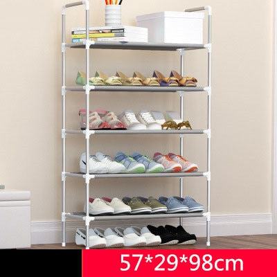 043828719bc9 Simple Fashion DIY Assembly Metal Iron Shoes Shelf Student Dormitory Shoe  Storage Rack Multi-layers
