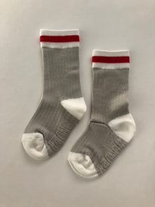 Classic Cabin Sock | Red Stripe | infant/toddler