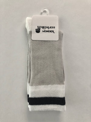 Classic Cabin Sock | Black Stripe | big kid