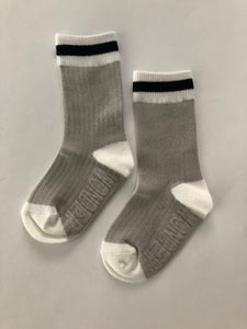 Classic Cabin Sock | Black Stripe | infant/toddler