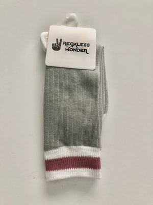 Classic Cabin Sock | Pink Stripe | infant/toddler