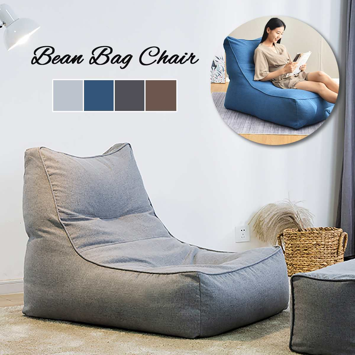 Lazy Bean Bag Sofa Cover Bean Bag Couch Excellent Living Room Furniture