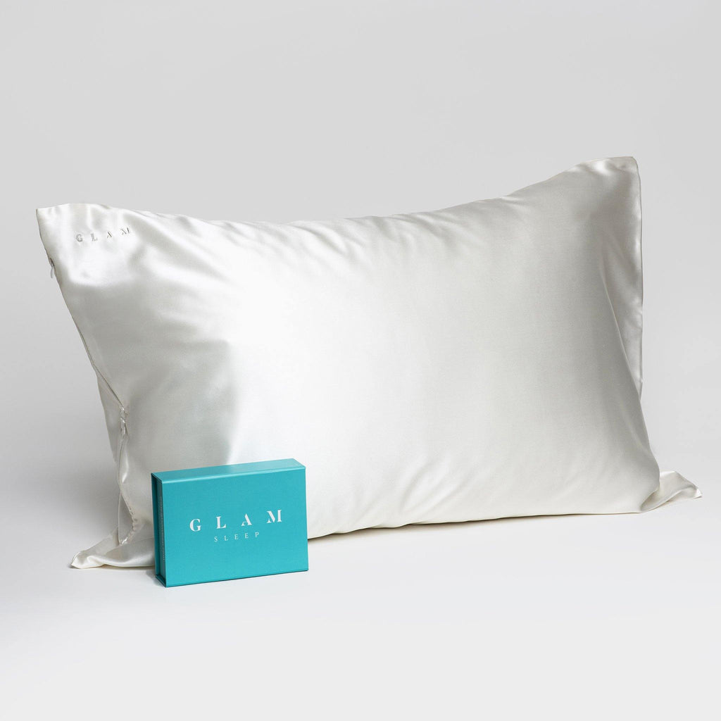 Silk Pillow Case in White (Standard Size) - Skin Vitality Medical Clinic