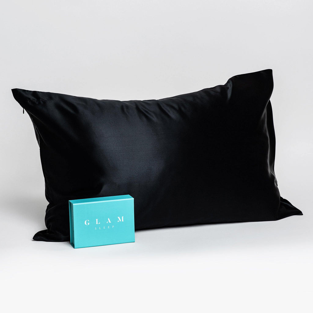 Silk Pillow Case in Black (Standard Size) - Skin Vitality Medical Clinic