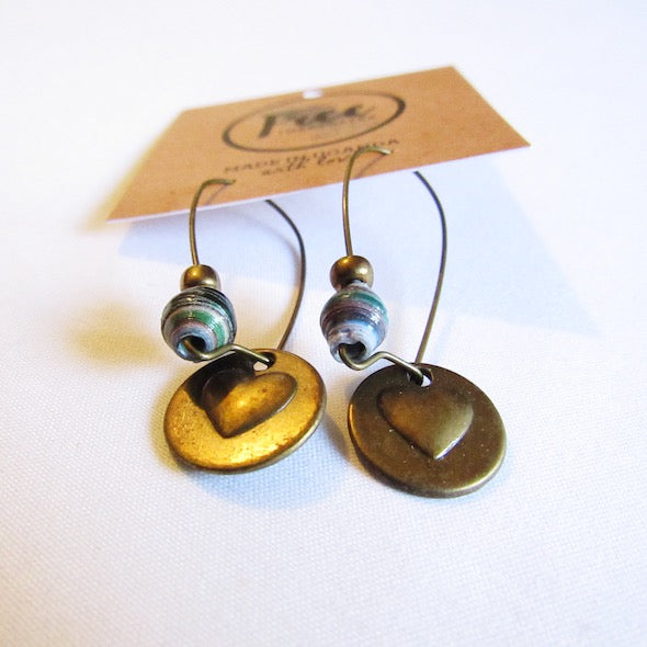 Earrings - Multicolored & Love/Heart tag