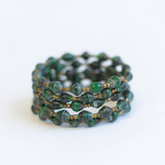Coil Bracelet - Dark green with black