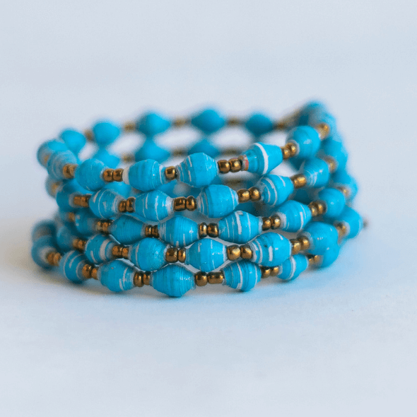 Coil Bracelet - Light pastel blue