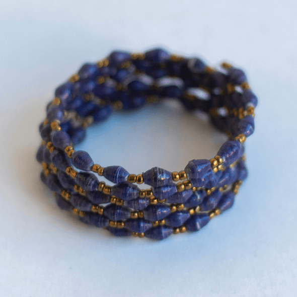 Coil Bracelet - Blue/purple