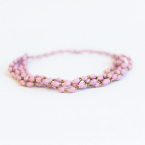 Necklace - Soft pink