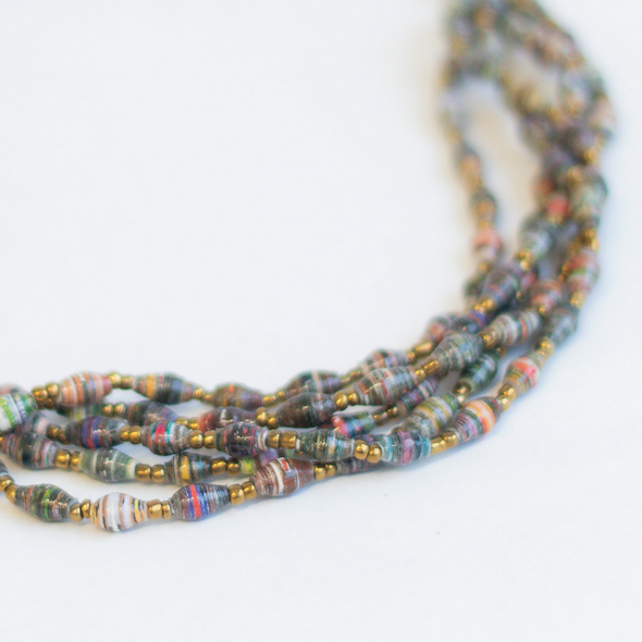 Multicolored Necklace - Dark colors