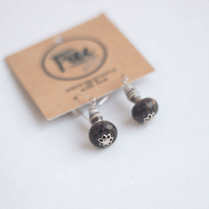 Earrings - Brown beads