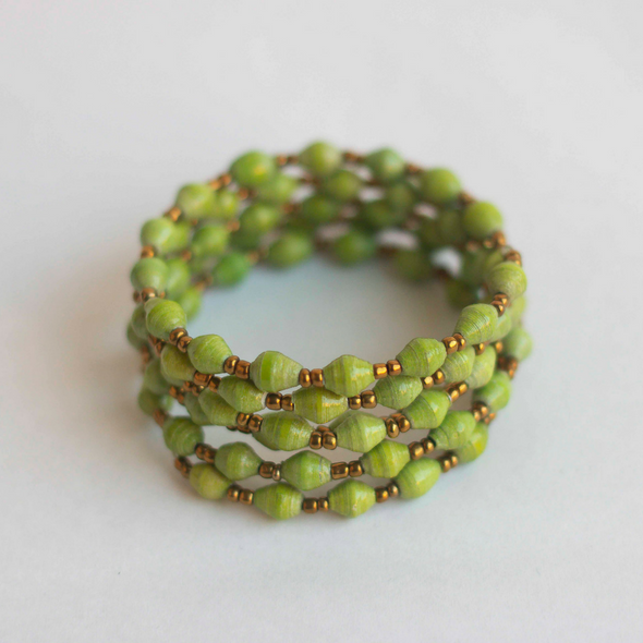 Coil Bracelet - Light green