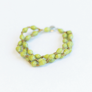 Triple Bracelet - Soft green