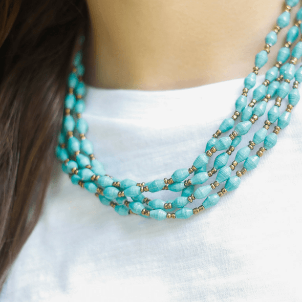 Necklace - Soft blue