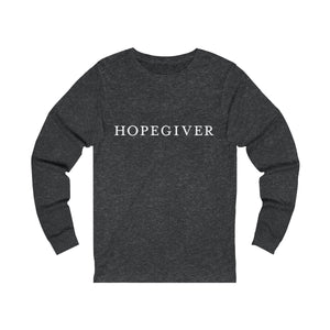 """Hopegiver"" Unisex Jersey Long Sleeve Tee"