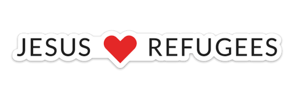 Jesus Loves Refugees - Bumper sticker