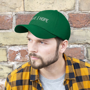 """Give hope"" Unisex Twill Hat"