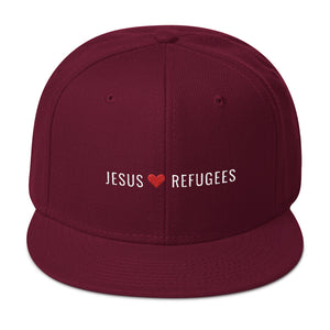 """Jesus Loves Refugees"" Snapback Hat"
