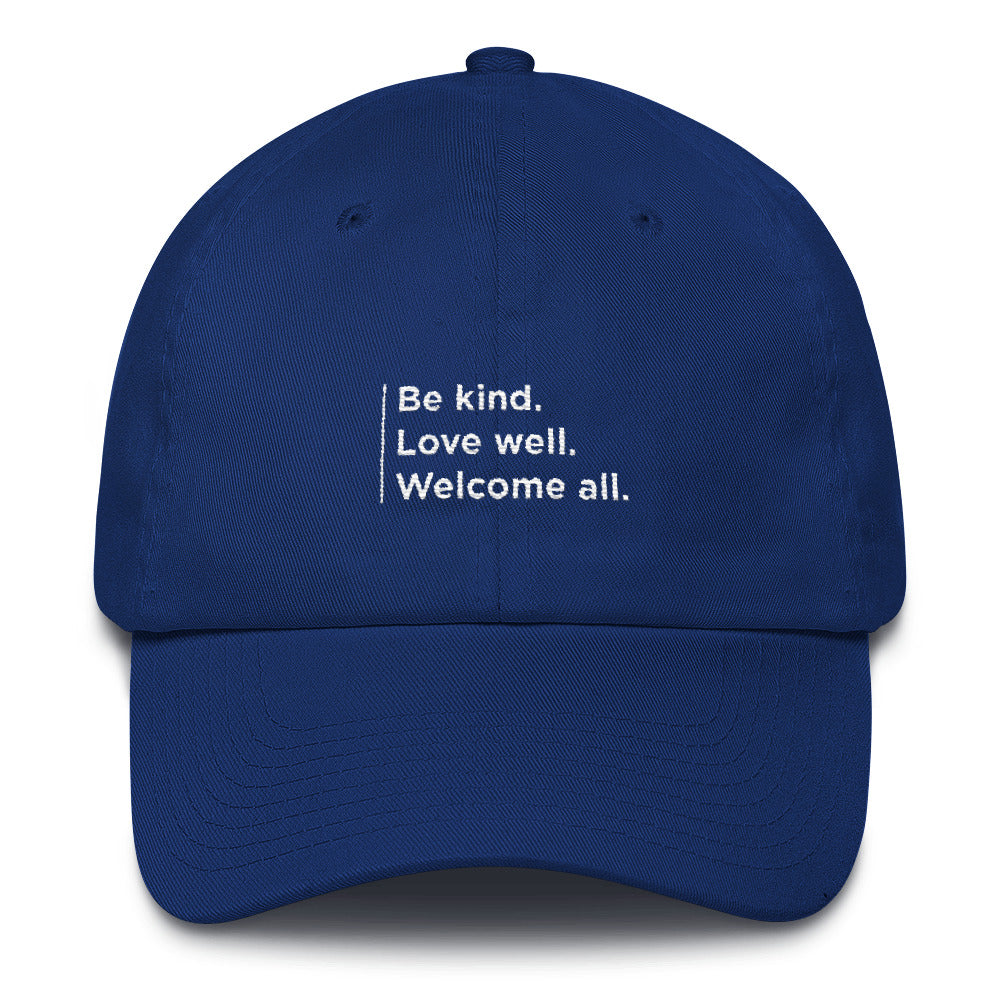 """Welcome All"" Cotton Cap"