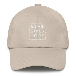"""She Gives Hope"" Cotton Cap"