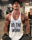 Men Hoodie Tank Top (DO THE WORK)