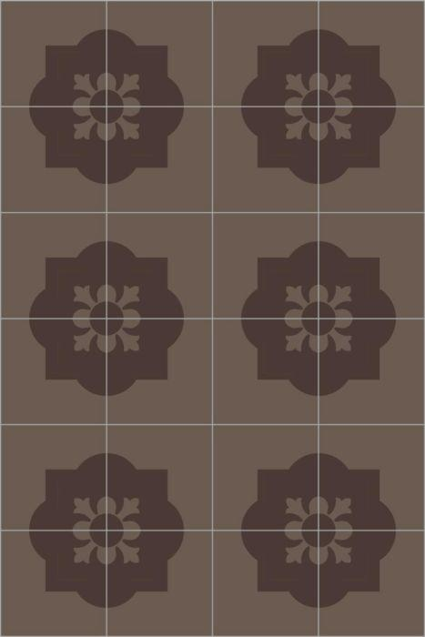Bisazza Cementiles Classic Poppy Brown
