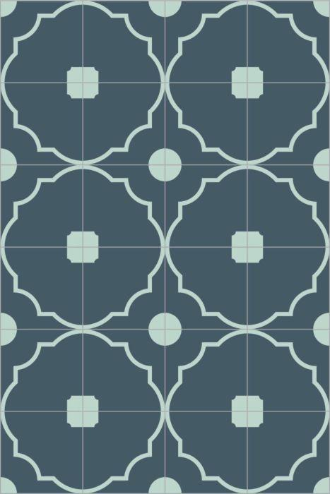 Bisazza Cementiles Couture Shrine Blu