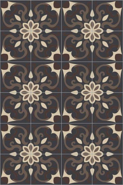 Bisazza Cementiles Couture Spell Wenge