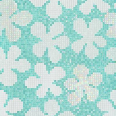 Bisazza Decori 20 Glass Flowers Blue