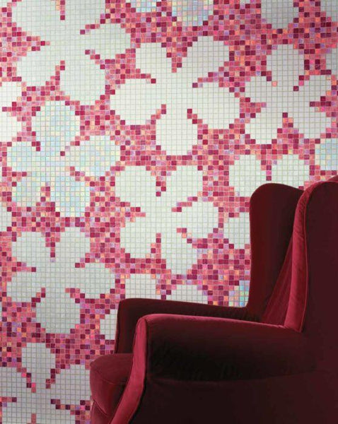 Bisazza Decori 20 Glass Flowers New Pink